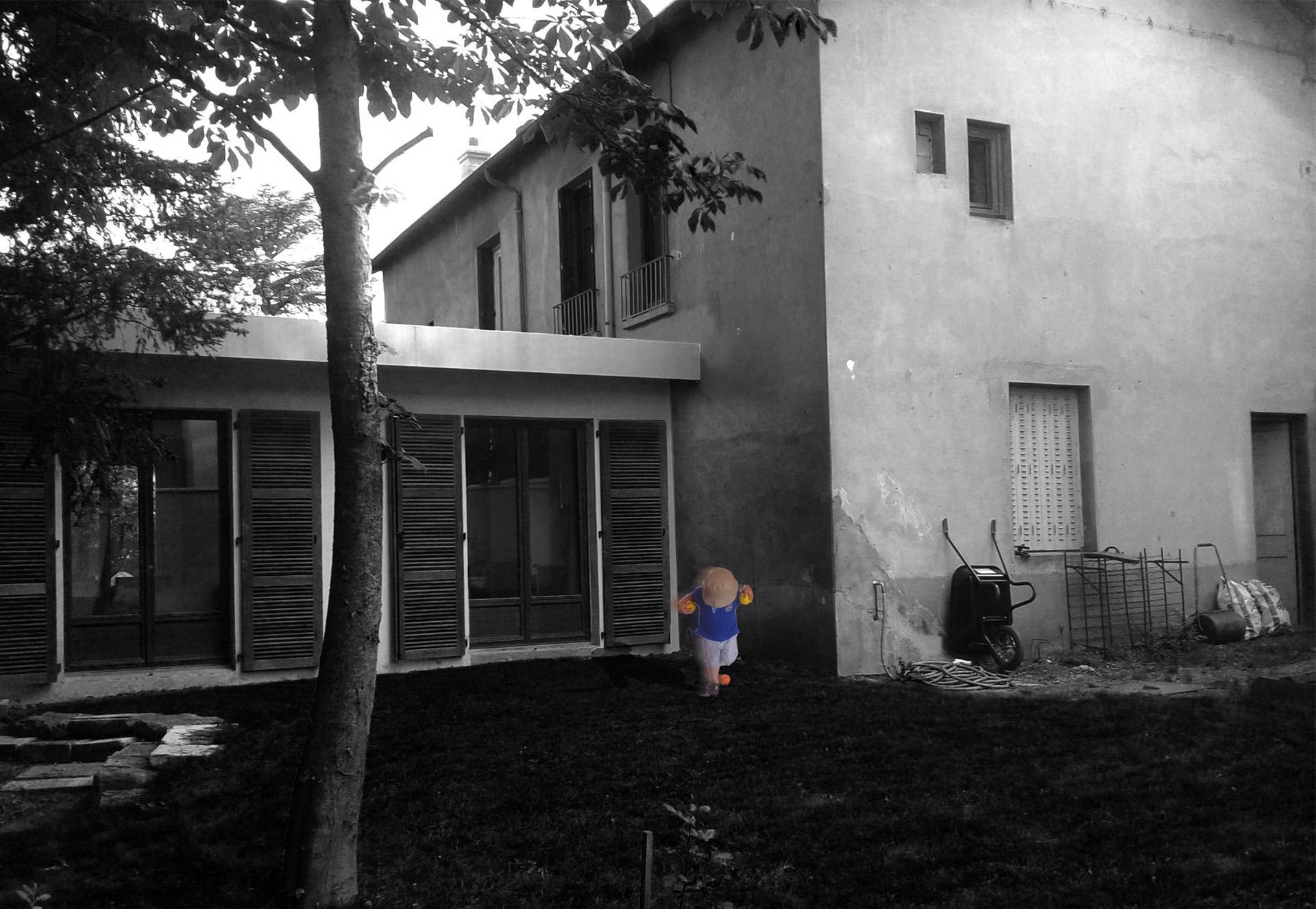 R Habilitation Et Extension D Une Habitation En P Riph Rie De Lyon Ankha Architecture